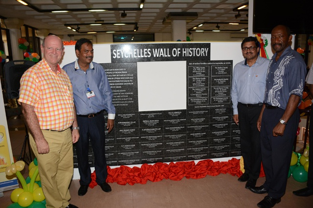 Honouring Indian contributions to Seychelles - Seychelles India Day 2015 unveils 'Wall of History'