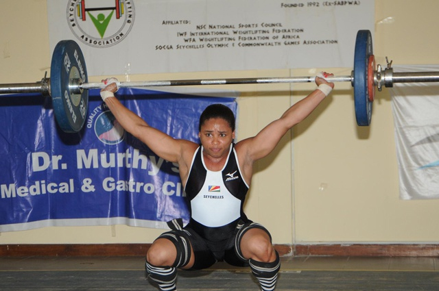 Seychelles weightlifter Ruby Malvina succeeds in quest for more gold at Commonwealth championship in India