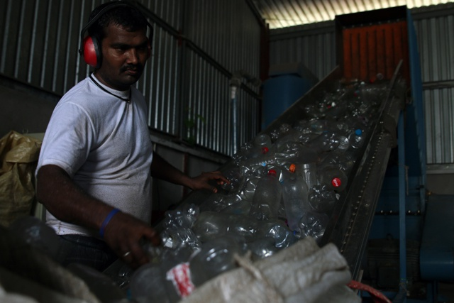 Seychelles company exports millions of shredded PET bottles to reduce the islands' solid waste