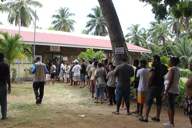 Seychelles Presidential Elections 2015: voters head to the polls on first day of voting at special stations on Mahé, Praslin, Silhouette and the outer islands