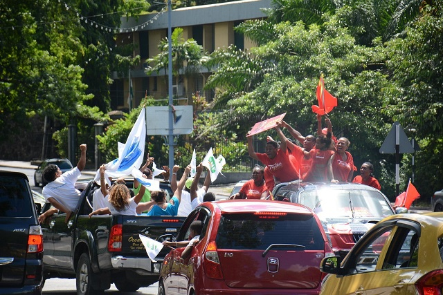 First-round results of presidential election in Seychelles celebrated in spite of looming run-off - the two top contenders say they are ready for the second round