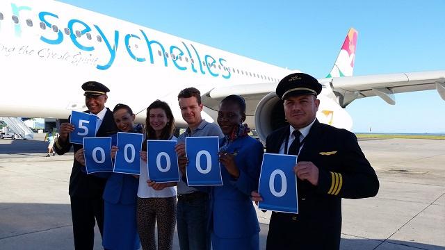 Seychelles national airline celebrates half-a-million milestone