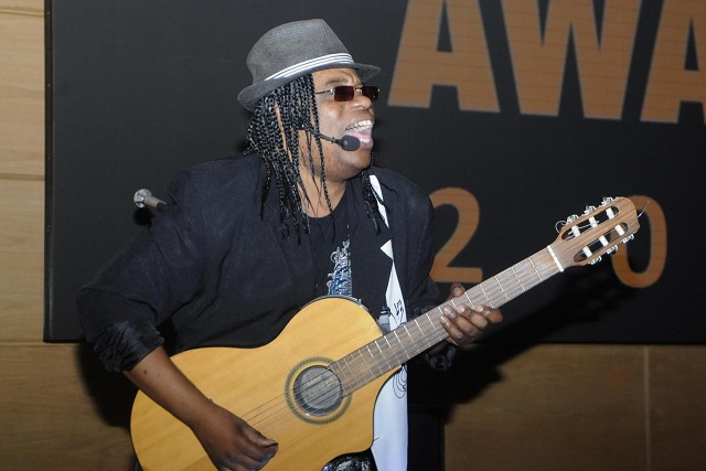 Seychelles musician Emmanuel Marie makes the fans dance in Dubai