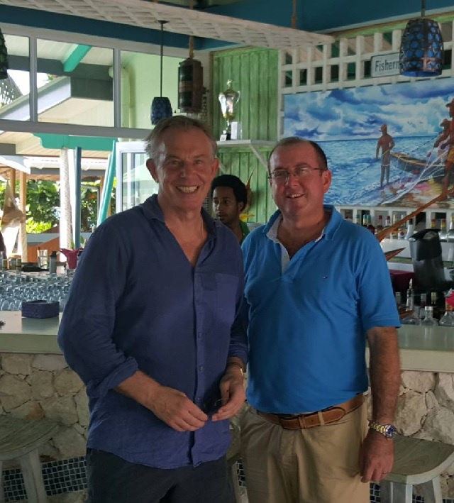 High-level visitor: Tony Blair begins 2016 in Seychelles