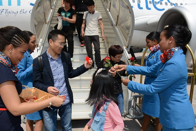 Air Seychelles makes first direct flight from Beijing