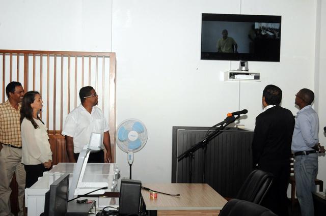 Le premier système de preuve par vidéo pour les tribunaux des Seychelles est opérationnel