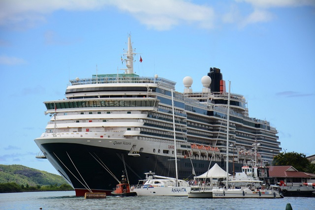 Another record: Seychelles docks longest cruise ship -- again