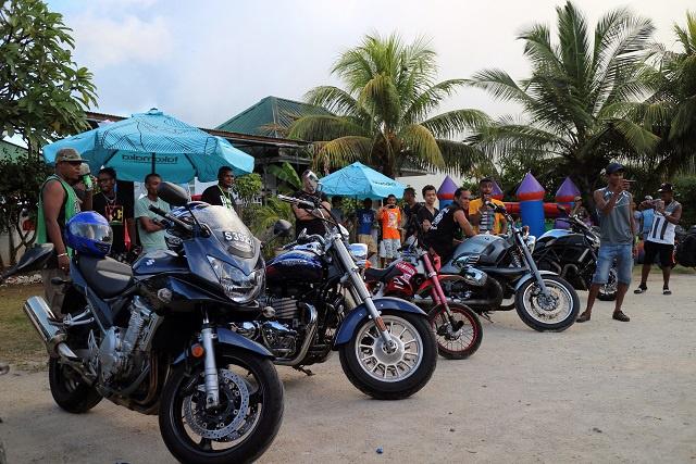 Les passionnés de motos des Seychelles ont assisté à leur tout premier spectacle de motos