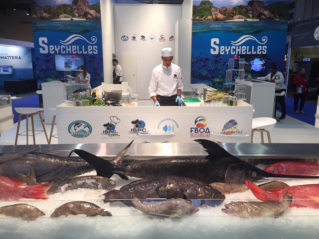 Fish of Seychelles impress visitors at Belgium's Seafood Expo