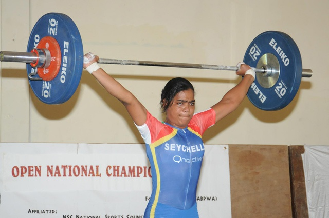 Seychellois lifter wins triple bronze at championship meet in Cameroon; no Olympic qualifications yet