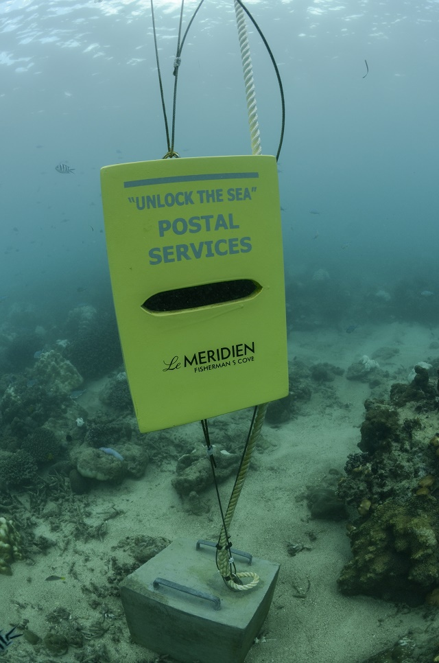 Snorkel and send: New underwater mailbox opens in Seychelles