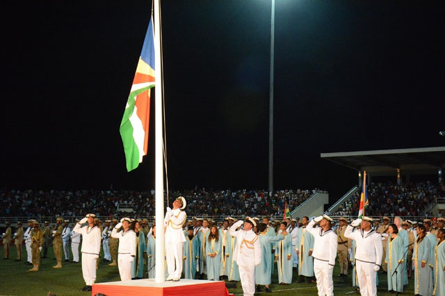 3 flags have flown over independent Seychelles. How did they look?