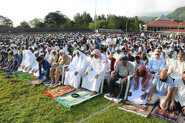 'Peace is a great blessing,' says Muslim leader as Seychelles' Islamic community celebrate Eid-ul-Fitr