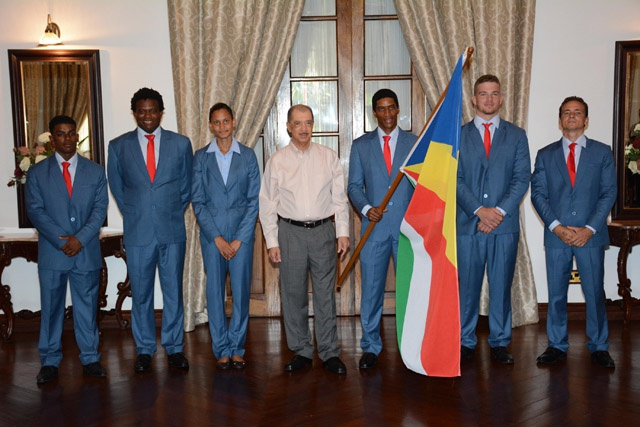 10 athletes prepare to fly the Seychelles' flag at the Rio Olympic Games