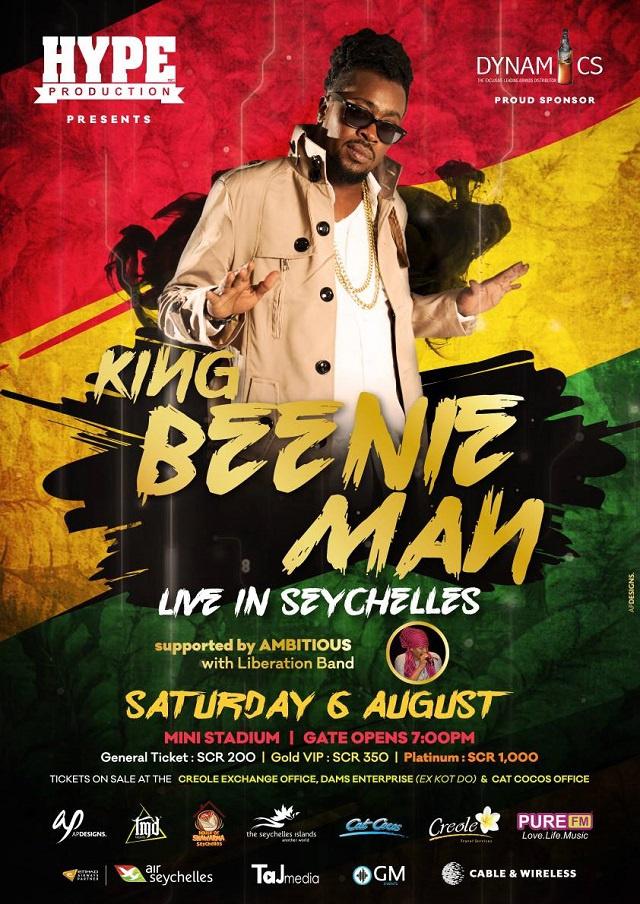 Jamaican dancehall artist postpones concert in Seychelles after contracting Zika virus