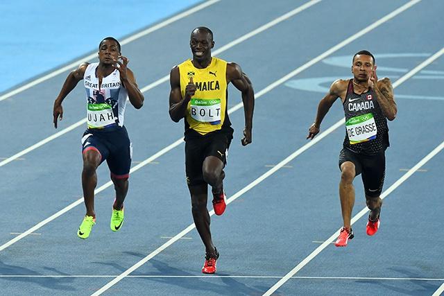 JO-2016 - Athlétisme: troisième or olympique pour Usain Bolt sur 100 m