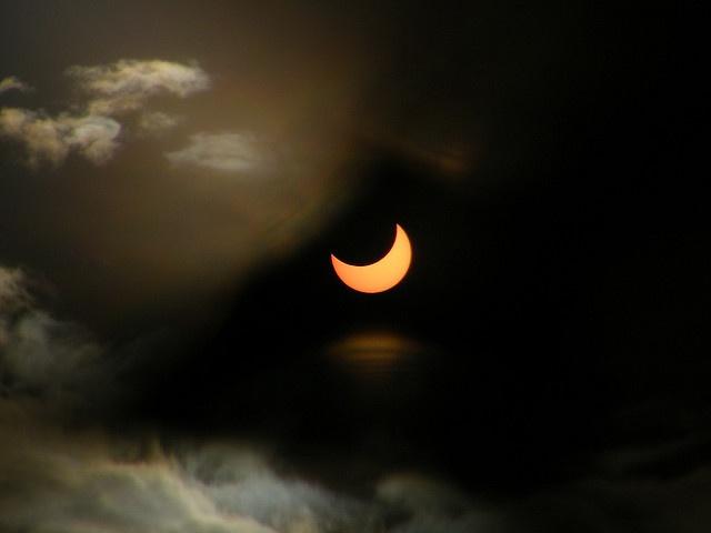 Éclipse solaire partielle aux Seychelles