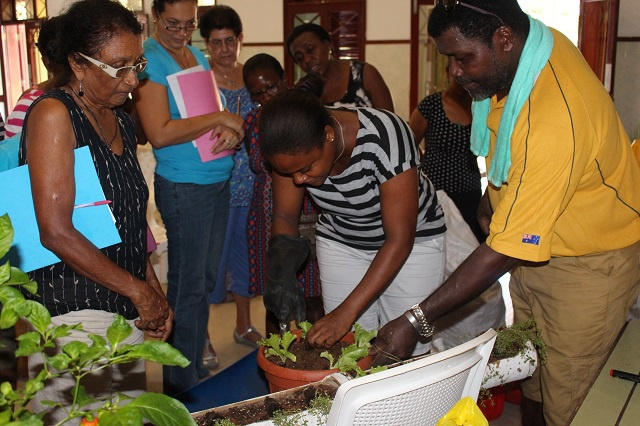 Locals in Seychelles learn how to set up own home gardens