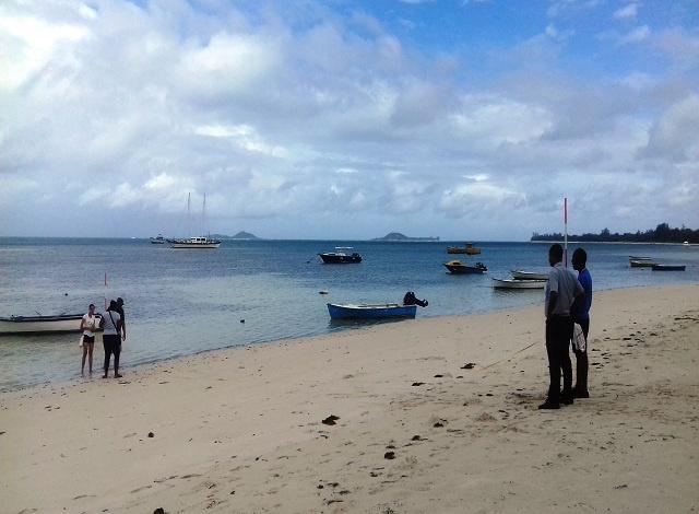 Le GPS utilisé dans l'étude de l'érosion des plages aux Seychelles