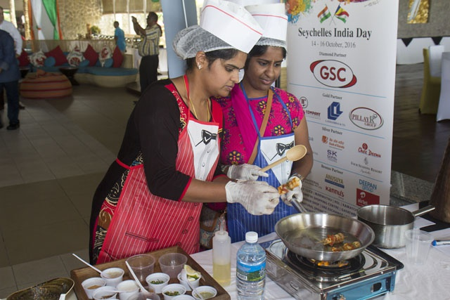 What's cooking! Indian chef tests cooking skills at Seychelles-India Day's culinary show