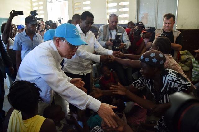 UN chief urges against aid 'fatigue' in hurricane-hit Haiti