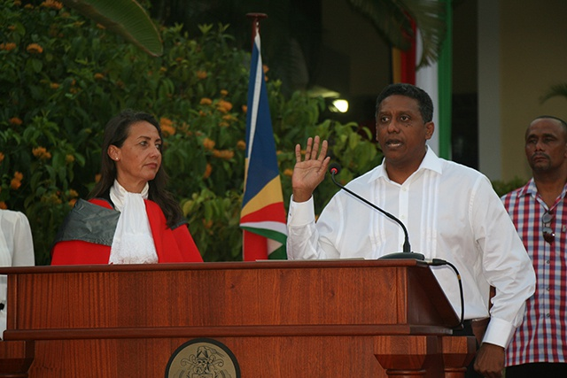 Seychelles' new President: Danny Faure sworn in to office, calls for unity