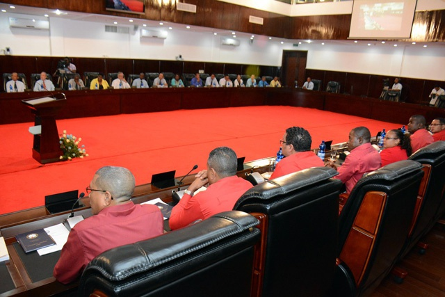 Leaders in the Seychelles National Assembly react to presidential address
