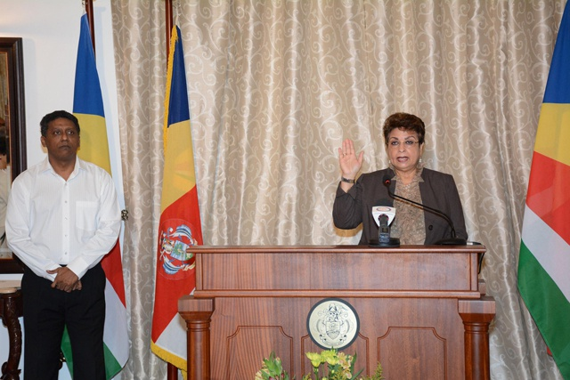 Seychelles gets first woman designated minister: Macsuzy Mondon sworn in