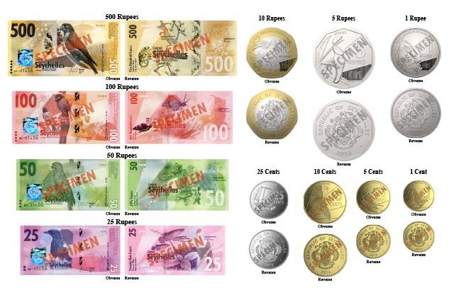 De nouveaux billets de banque vont être émis par la banque centrale des Seychelles