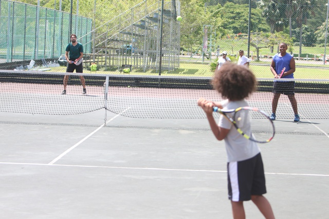 French tennis pro shares expertise with young aspiring players in Seychelles