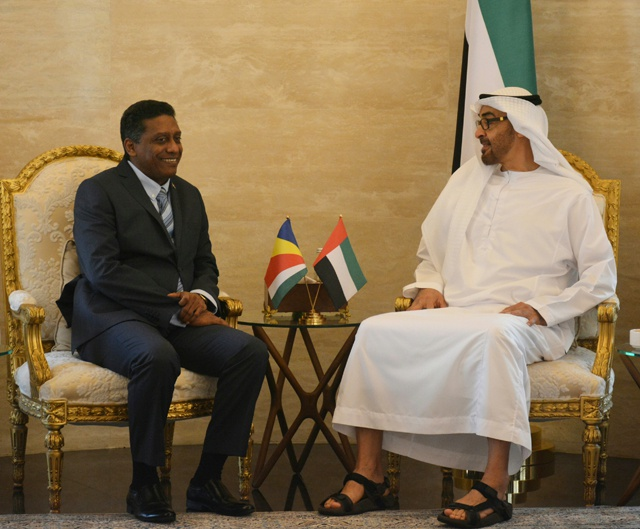 Seychelles-Abu Dhabi development, relations discussed on President's visit