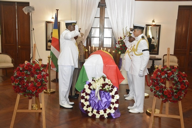 Seychelles' first president, James Mancham, laid to rest at State House cemetery