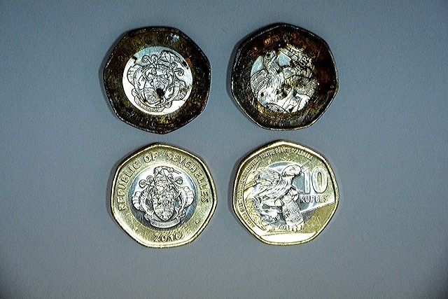 Rusty rupees: New coins from Seychelles sent to UK for tests