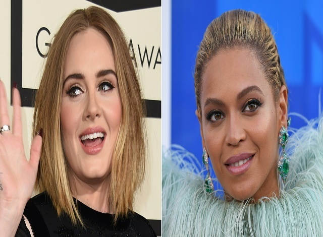 Beyonce vs. Adele at music's biggest night