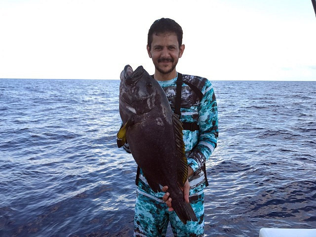 Big, big fish: Grouper caught in Seychelles could set world record