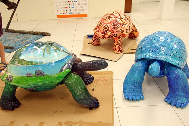 Seychelles in Venice: 15 life-sized giant tortoise sculptures to marvel at