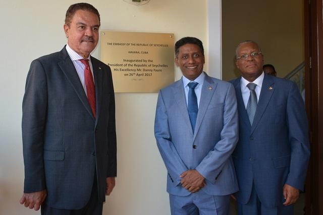 Seychelles' President opens embassy in Cuba