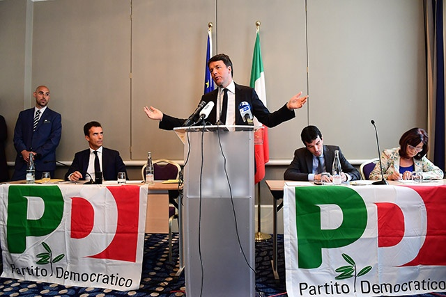 Italy's Former Prime Minister Matteo Renzi Regains Party Leadership