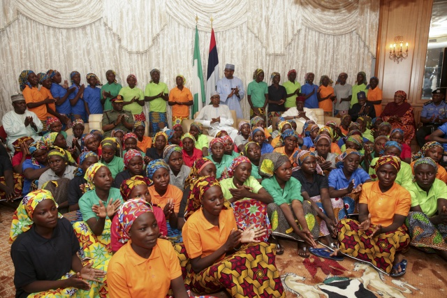 Nigeria president vows support for freed Chibok girls