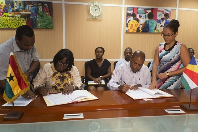 Ghana and Seychelles sign partnership deal on fisheries industry; mariculture projects to benefit