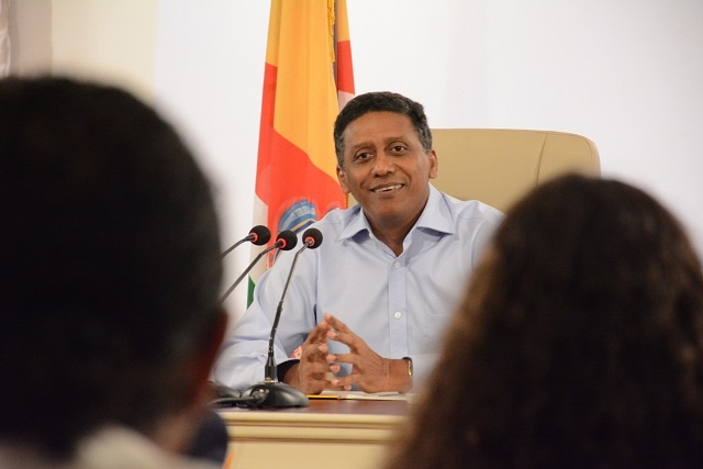 News conference: Seychelles' president to study Grand Bay project, land allocation issues