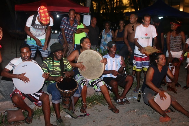 Group preserves Seychelles' traditional music with drum-filled performances on Wednesdays