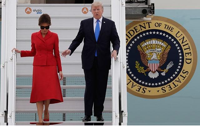 Paris déroule le tapis rouge à Trump, en difficulté à Washington