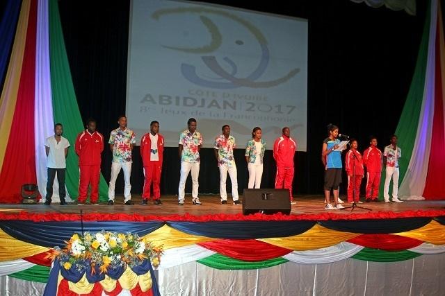 La délégation Seychelloise part pour les Jeux de la Francophonie en Côte d'Ivoire.