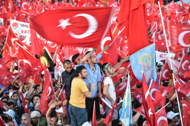 Turkey marks coup defeat with rallies, Erdogan warning to 'traitors'