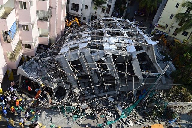 Inde : effondrement d'un immeuble à Bombay, le bilan passe à 17 morts