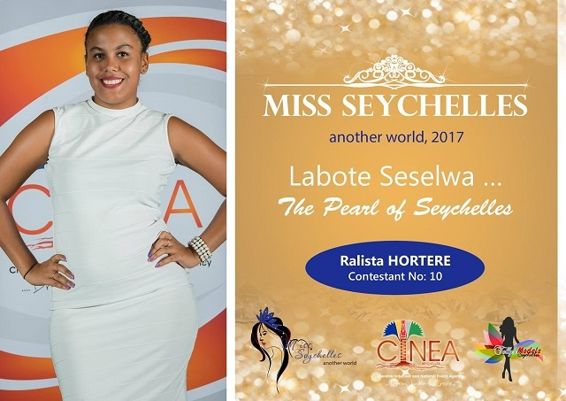 Intelligence, personality, inner beauty all important for Miss Seychelles 2017, contestant Ralista Hortere says