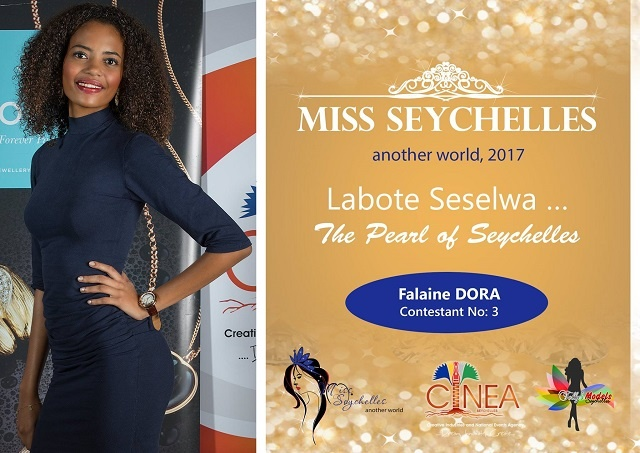 Miss Seychelles contestant Falaine Dora wants to help her community fight drugs