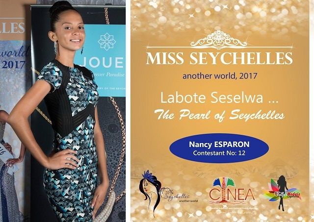 Miss Seychelles contestant Nancy Esparon has a passion for working with young people