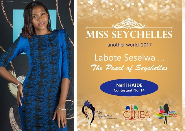 Miss Seychelles contestant Nerli Haide promoting cultural heritage through traditional dance